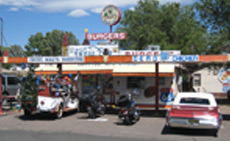 Visitors to Delgadillo's Snow Cap in Seligman, AZ are in for a unique and fun experience.