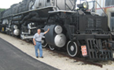 "This monster steam engine in St. Louis is one of only twenty-five ""Big Boys"" ever made."