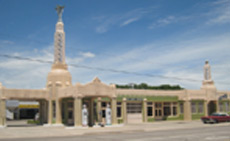 "Those familiar with the movie, ""Cars,"" may recognize this Shamrock, Texas landmark."